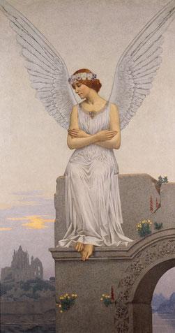 Alexandre Séon, La Pensée, vers 1900, huile sur toile, collection musée des beaux-arts de Brest métropole.