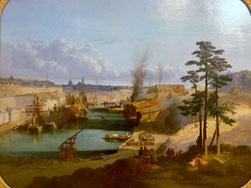 Jules Noël, Le Port de Brest, 1849, huile sur toile, collection musée des beaux-arts de Quimper.