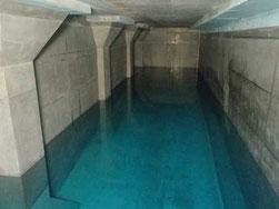 平岸配水池内部
