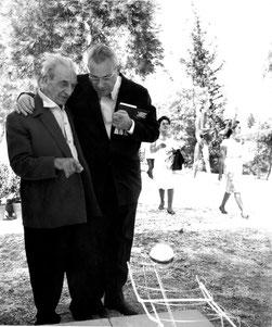 Max Bill und Georges Vantongerloo an einer Skulpturen-Ausstellung in Athen,1965   (Foto: Max Bill Georges Vantongerloo Stiftung Zumikon)