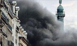 Brand im Ritz Paris