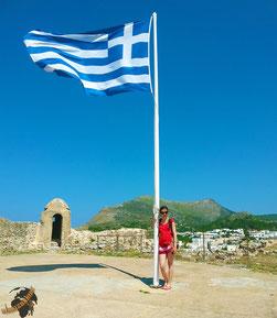"""""""Ellada"""" ist griechisch für """"Griechenland"""". Das ist also im wahrsten Sinne meine Flagge!"""