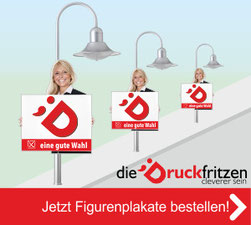 Jetzt Hohlkammer-Figurenplakate bei diedruckfritzen bestellen!