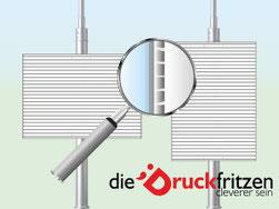 Hohlkammerplakate Materialansicht bei diedruckfritzen.de