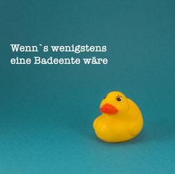 Gelbe Badeente