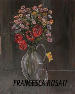 Vaso con fiori, olio su tela,  40x50 cm, 2012