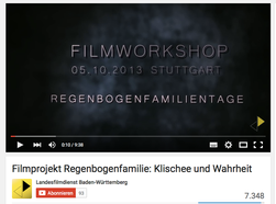 """Bildschirmfoto Video""""Regenbogenfamilie: Klischee und Wahrheit"""" auf YouTube; 20160309"""
