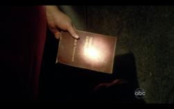 """Fermo immagine dalla serie tv Lost in cui Hugo stringe tra le mani """"Timore e tremore"""" di Soren Kierkegaard"""
