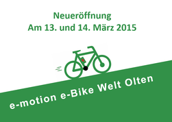 e-motion e-Bike Welt Olten ab April 2015