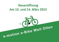 e-motion e-Bike Welt Olten ab April 2015