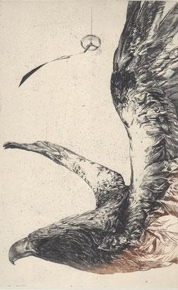 あつかぜの間 銅版画・雁皮刷り 28.5x18cm