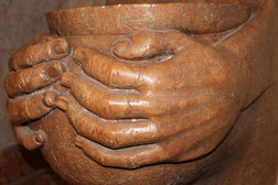 Handgefertigter Brunnen aus Marmor, Rosso Verona