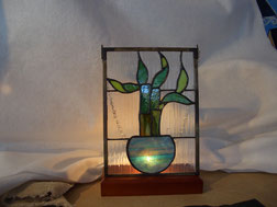 Bamboo Art Glass Lamp
