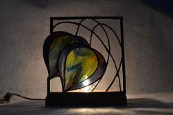 Art Deco Tulip Art Glass Lamp