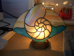 Nautilus Shell Stained Glass Accent Lamp