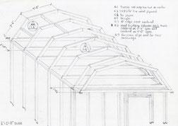 Blueprint Sketch by Norman Blake McKenzie