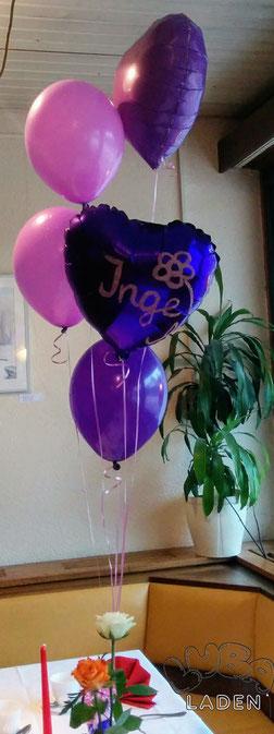 Folienballon mit Beschriftung und Ballongas