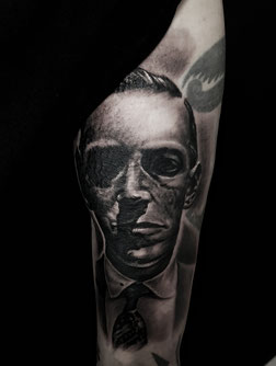 lovecraft lovecraftian josh vangore hamburg altona tattoo tätowierung portrait inksane