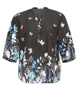 damenbluse für runde Frauen , Bluse schwarz XXL in großen Größen
