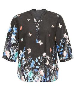 sommerliche Bluse mit Schmetterlingsdruck in Übergröße