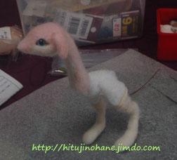 羊毛フェルト 桜ドラゴン 作成過程