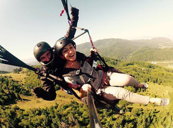 That's me, flying a paraglider