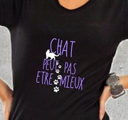 tee shirt a offrir femme chat