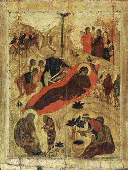 Andrej Rubljow: Geburt Christi; um 1405
