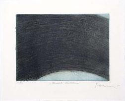 """Arnulf Rainer, """"Überdeckte Überdeckung"""", ca. 1960, Radierung auf unterdruckter Farb-Tonplatte, ed. 99, 45 x 54,5 cm"""