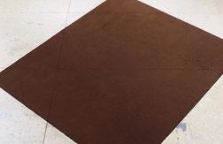 Matthieu van Riel. Z.T. 140x160x0,1cm pigment op vloer vloerobject 2006