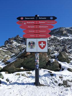 Landesgrenze Tirol zu Schweiz