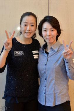 Stage 2(本戦)には梶谷景美(左)&河原千尋、参戦! ※この写真は昨年末の『フレクシェカップ』にて
