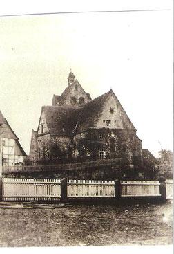 Die alte Martinskirche in Oldendorf vor 1867
