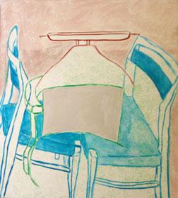 "Eva Hradil ""Abstand Nähe"" 2011, Eitempera auf Leinwand, 90 x 80 cm"