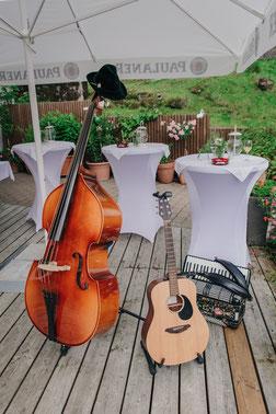 Sektempfang bei Hochzeitsfeier im Allgäu
