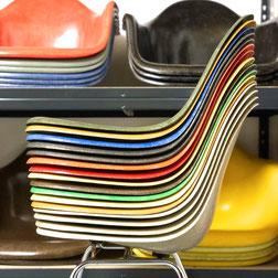 Vitra Herman Miller Eames Fiberglass Sidechairs