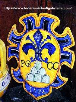 stemma in ceramica antica riproduzione xv