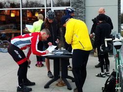 Ride registration for the Manitoba Randonneurs brevets