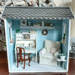 Miniatur-Gartenhaus basteln
