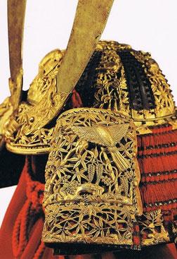 国宝 赤糸威大鎧(竹虎雀餝)部分