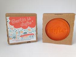 """Berlin Souvenirs: """"Berlin is dufte"""" Naturseife Fruchtikuss - Geschenke aus Berlin"""
