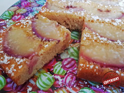 gâteau light nectarine sans gluten sans lactose