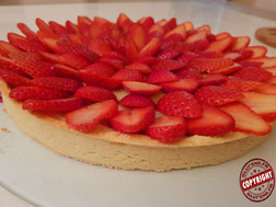 tarte aux fraises sans gluten sans lactose
