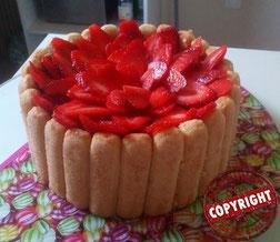 charlotte aux fraises sans gluten