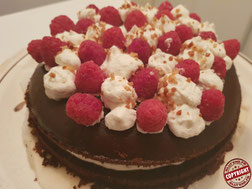 gâteau choco framboise sans gluten (sans lactose)