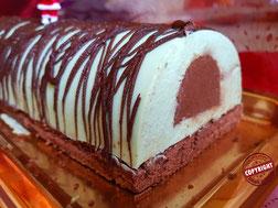 bûche menthe fraîche chocolat sans gluten