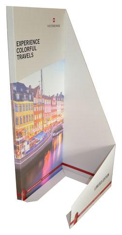 Palettenmantel Halbmantel Wandaufsteller aus Pappe bedrucken