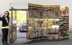 Ruck-Zuck-Wand Aufstellwand Webewand Pappe bedrucken