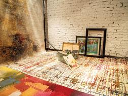 Mongolsche Kunst auf dem Teppich
