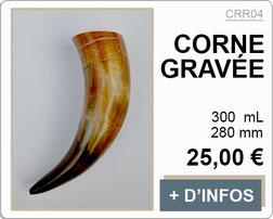 Corne à boire polie